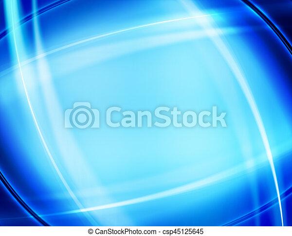 blu, disegno astratto, fondo - csp45125645