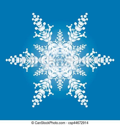 Blu Fiocco Di Neve Fondo Uno
