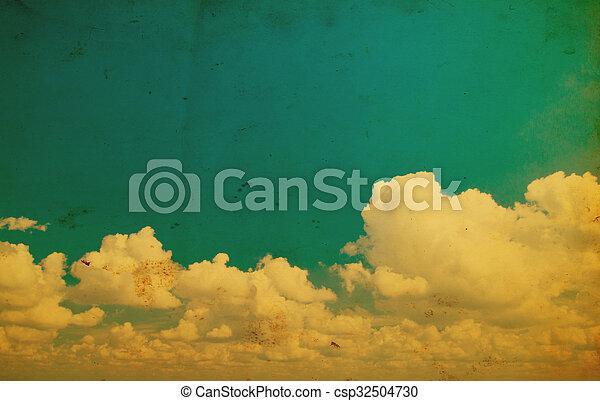 blu, fondo., cielo - csp32504730
