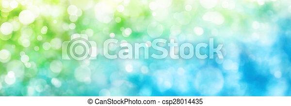 blu, formato, culmini, verde, defocused, panorama - csp28014435