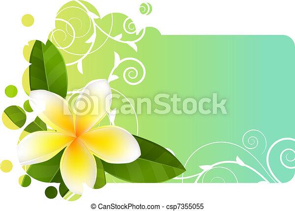 blu, frangipani, bandiera, tropico, luce - csp7355055