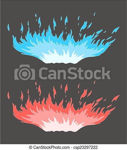 Blu Fuoco Rosso Blu Grigio Fiamma Sfondo Rosso
