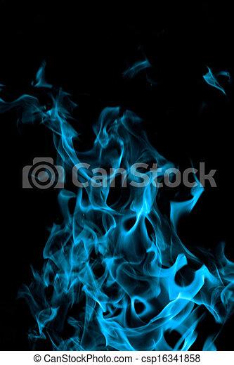 Blu Fuoco Sfondo Nero Blu Backgorund Astratto Fuoco Fiamme