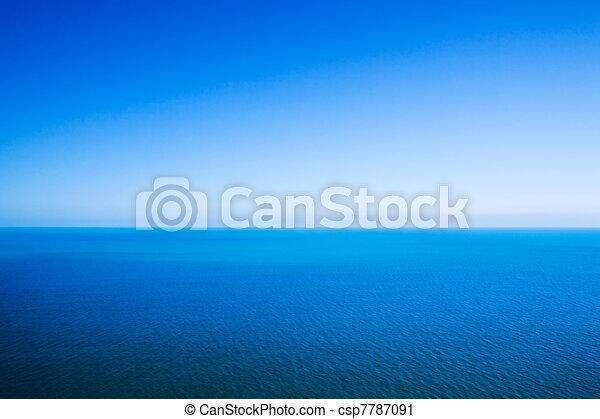 blu, idilliaco, orizzonte, cielo, astratto, -, calma, fondo, fra, linea, chiaro, mare - csp7787091