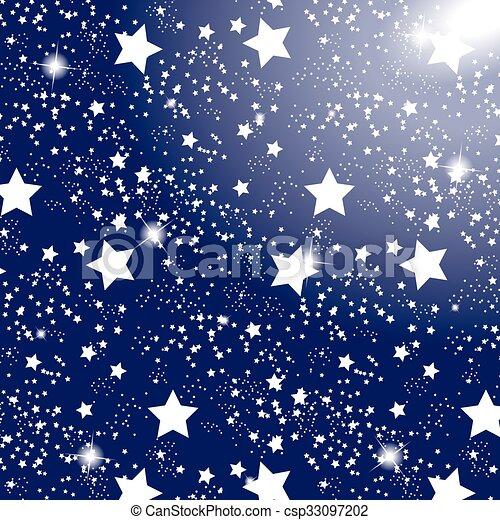 Blu Illustration Cielo Stellato Fondo Vettore Blu Eps10