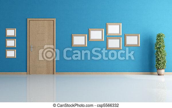 blu, interno, vuoto - csp5566332