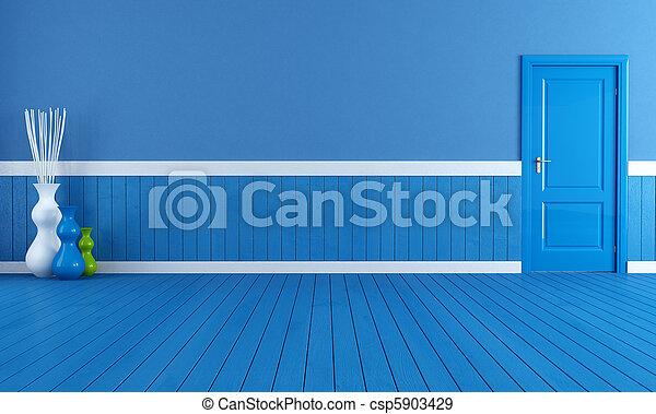blu, interno, vuoto - csp5903429