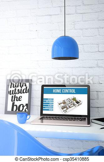 Blu laptop automazione casa desktop esposizione - Automazione casa ...