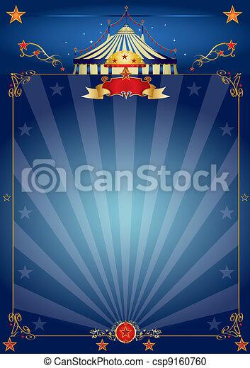 blu, manifesto, circo, magia - csp9160760