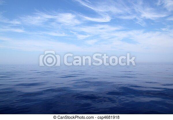 blu, mare, cielo, acqua oceano, calma, orizzonte, scenics - csp4681918