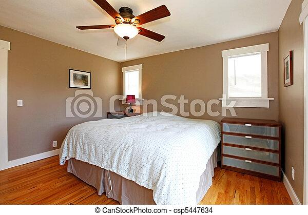 blu, marrone, coperta, pareti, camera letto