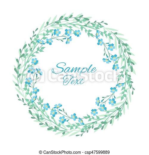 blu, me, dimenticare, vettore, non, fiori - csp47599889