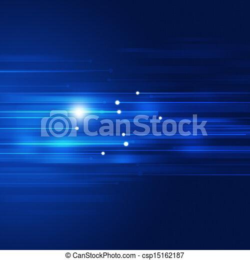 blu, movimento, astratto, tecnologia, fondo - csp15162187