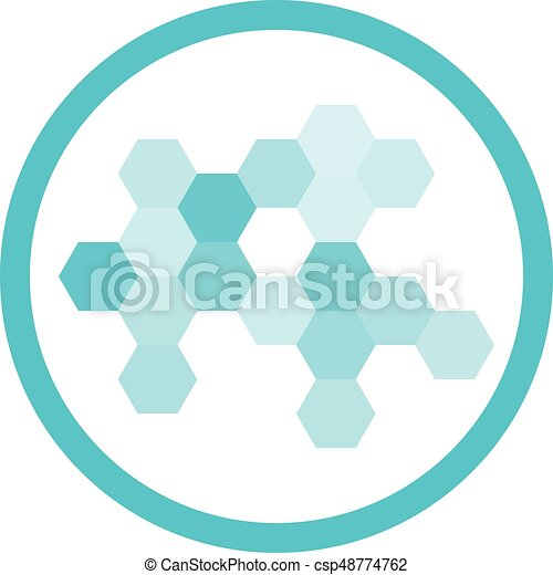 blu, nanotechnology, rotondo, icona - csp48774762