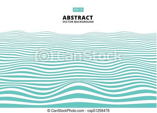 blu, ondulato, onda, astratto, linee, zebrato, modello, vettore, superficie grezza - csp51256478