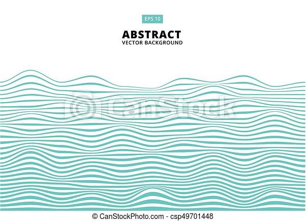 blu, ondulato, onda, astratto, linee, zebrato, modello, vettore, superficie grezza - csp49701448