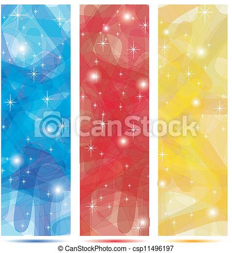 blu, oro, colori, bandiere, scarabocchio, rosso - csp11496197