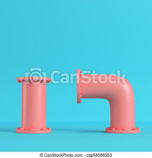 blu, pastello, tubi per condutture, luminoso, acqua colora, fondo, rosso - csp54588353