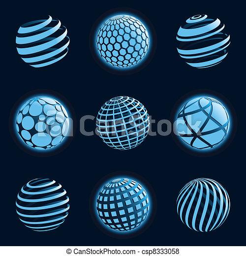 Blu planet icons. - csp8333058
