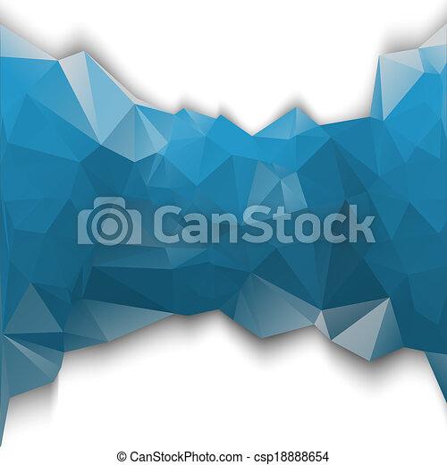 blu, poligonal - csp18888654