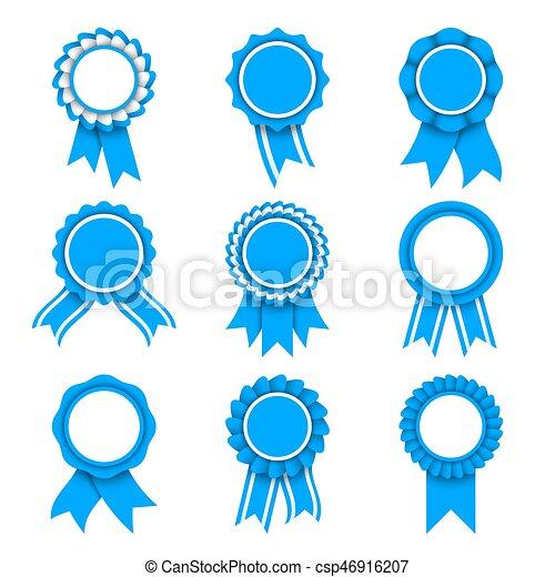 blu, premio, medaglie - csp46916207