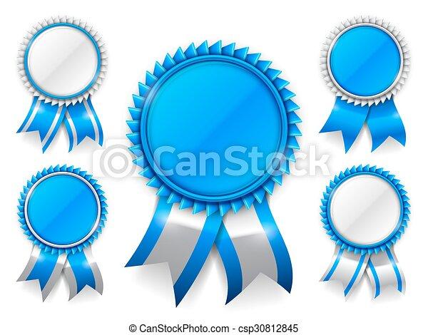 blu, premio, medaglie - csp30812845