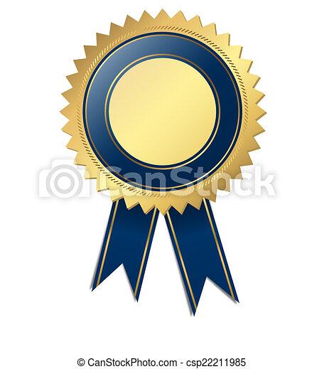 blu, qualità, -, sagoma, sigillo - csp22211985
