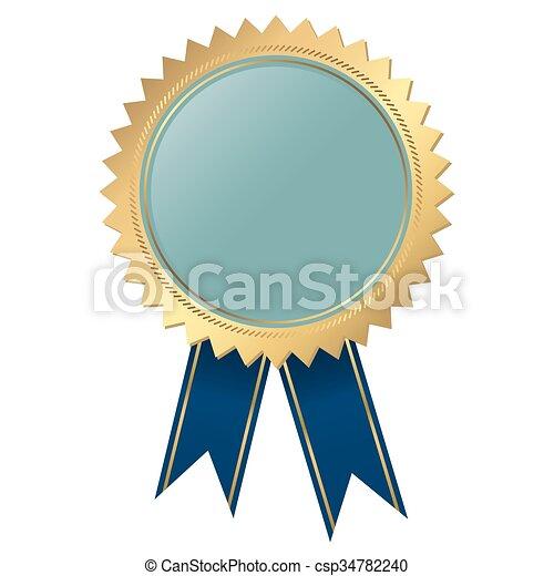 blu, qualità, -, sagoma, sigillo - csp34782240