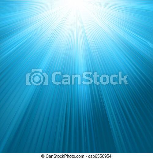 blu, raggi, sole, cielo, eps, 8, template. - csp6556954