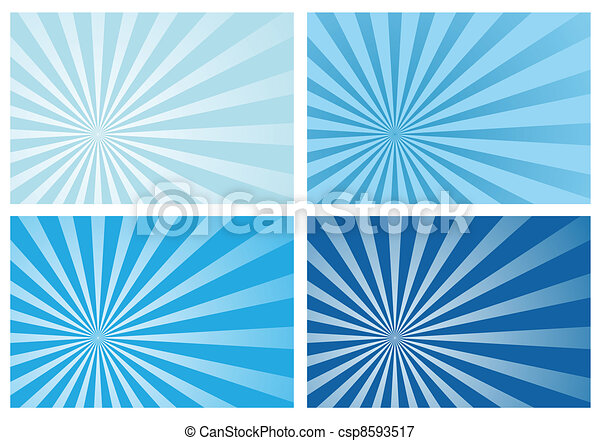blu, raggio, scoppio sole, luce - csp8593517