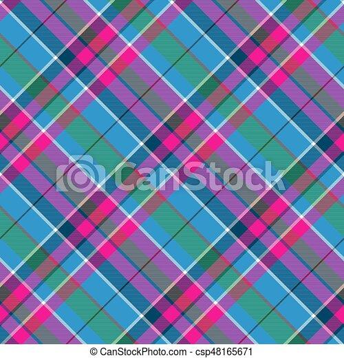 blu, rosa, tessuto plaid, modello, seamless, tessile, verde, assegno - csp48165671