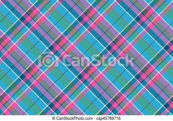 blu, rosa, tessuto plaid, modello, seamless, tessile, verde, assegno - csp45789716