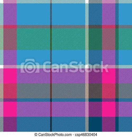 blu, rosa, tessuto plaid, modello, seamless, tessile, verde, assegno - csp46830404