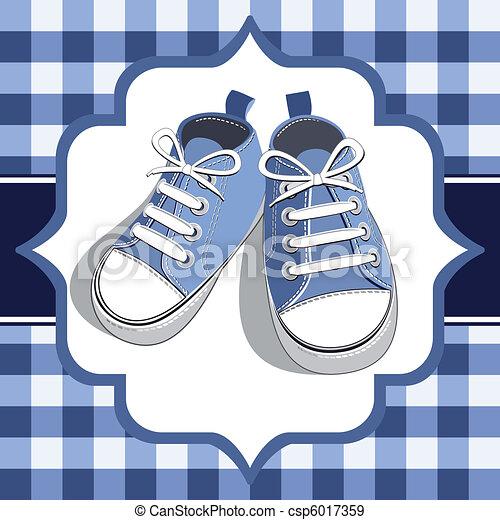 blu, scarpa tennis, bambini - csp6017359