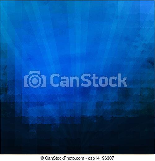 blu scuro, sunburst, struttura - csp14196307