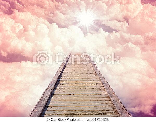 blu, sole, bello, cielo, clouds. - csp21729823