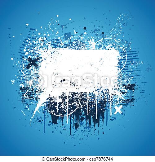 blu, splatter, grunge - csp7876744