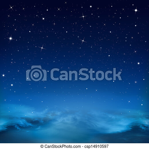Blu Stellato Astratto Cielo Fondo Cielo Stellato