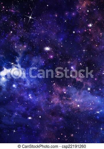 Blu Stellato Astratto Cielo Fondo