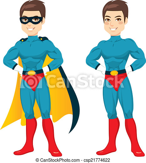 blu, superhero, uomo - csp21774622