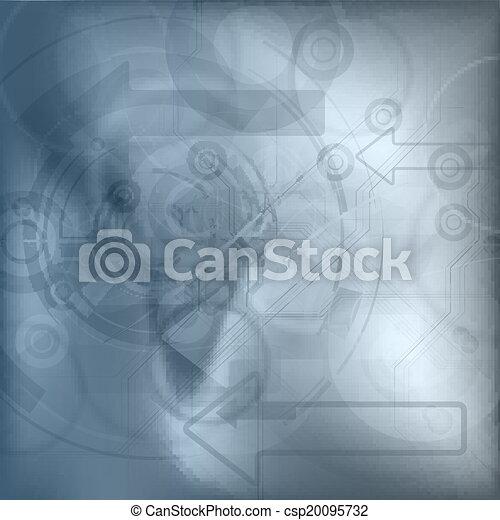 blu, tecnologia, fondo - csp20095732