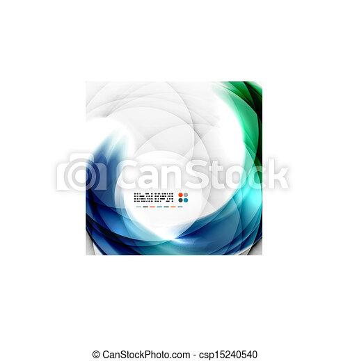 blu, turbine, disegno astratto - csp15240540