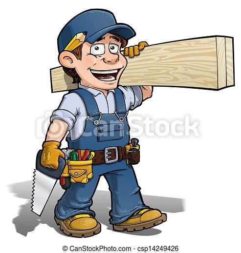 blu, uomo tuttofare, -, carpentiere - csp14249426