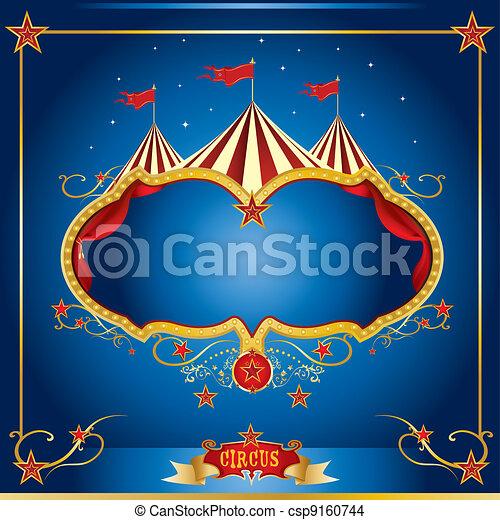 blu, volantino, circo - csp9160744