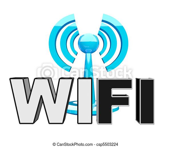 blu, wifi, moderno, icona, (wireless) - csp5503224