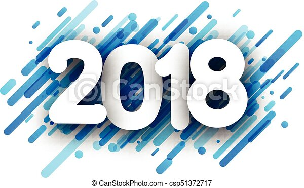 Blue 2018 new year background. - csp51372717