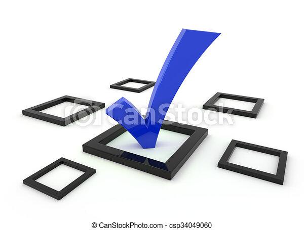 Blue 3d Tick Symbol 3d Render Illustration Blue Tick Symbol In A