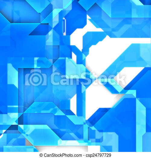 blue abstract background - csp24797729