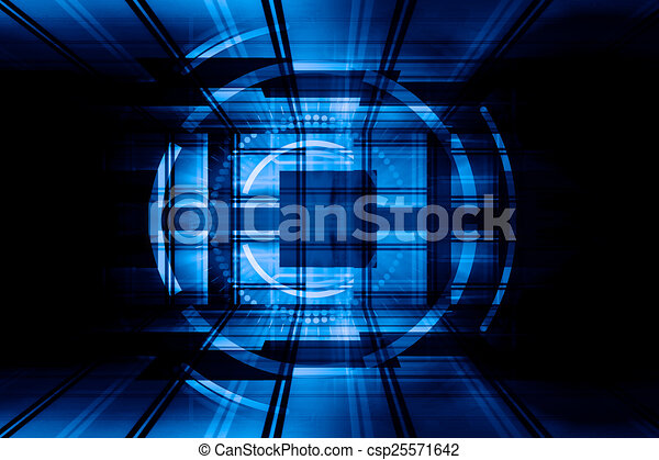 Blue Abstract Background - csp25571642