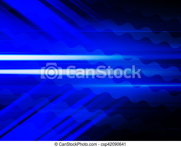 Blue Abstract Background - csp42090641